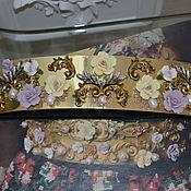 Пояса ручной работы. Ярмарка Мастеров - ручная работа ПОЯС NEW Барокко-Flowers в стиле DOLCE & GABBANA. Handmade.