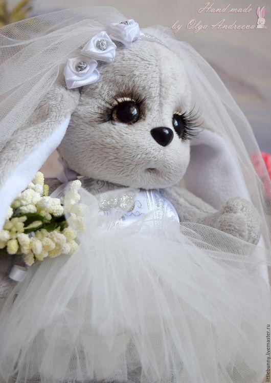 Мишки Тедди ручной работы. Ярмарка Мастеров - ручная работа. Купить Зайки Тедди жених и невеста. Handmade. Мишка тедди