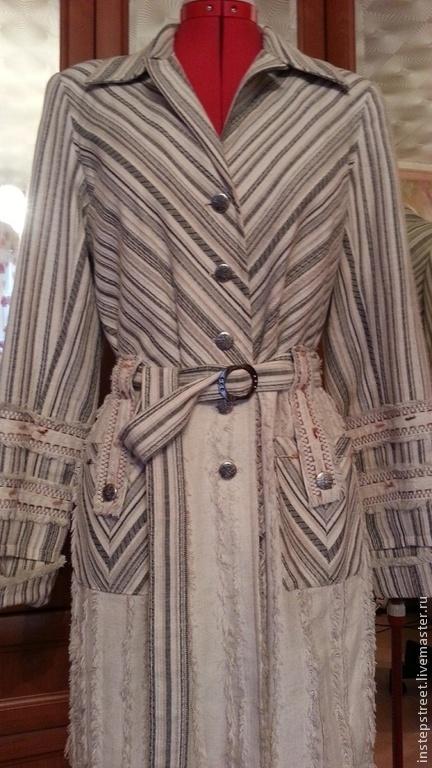 """Верхняя одежда ручной работы. Ярмарка Мастеров - ручная работа. Купить Летнее пальто """" ИНДЕАНО  """". Handmade. Бежевый"""