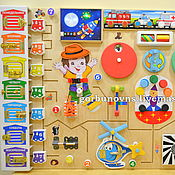 Куклы и игрушки handmade. Livemaster - original item Busybody: An educational function Module
