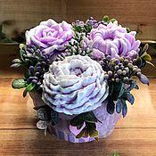 Мыло ручной работы. Ярмарка Мастеров - ручная работа Букет цветов из мыла. Handmade.