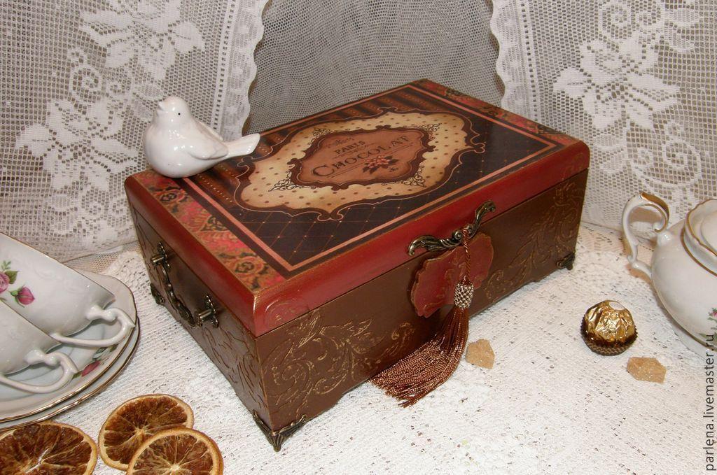 """Большая шкатулка для чая и сладостей """"Chocolat"""", Шкатулки, Москва, Фото №1"""