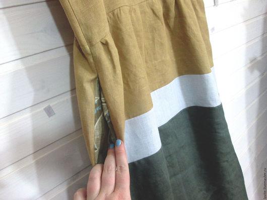 Платья ручной работы. Ярмарка Мастеров - ручная работа. Купить пыльное желтое. Handmade. Кежуал, оверсайз, лён натуральный