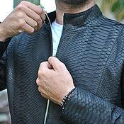 handmade. Livemaster - original item Jacket from Python. Handmade.