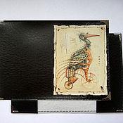 """Канцелярские товары ручной работы. Ярмарка Мастеров - ручная работа обложка на паспорт """"Ибис"""". Handmade."""