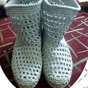 Обувь ручной работы. Ярмарка Мастеров - ручная работа вязаные сапожки. Handmade.