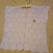 Одежда ручной работы. Ярмарка Мастеров - ручная работа жилет женский крючком ажур от Илоны. Handmade.