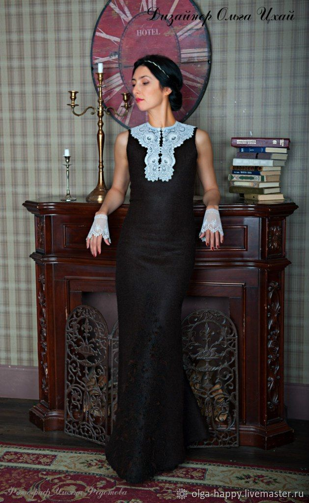 Handmade Felted dress Voyage, Dresses, St. Petersburg,  Фото №1