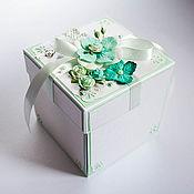 Свадебный салон ручной работы. Ярмарка Мастеров - ручная работа Коробочка для денег Magic Box свадебная Бирюза. Handmade.