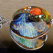 Украшения handmade. Livemaster - original item Pendant Secrets of nature lampwork. Handmade.