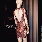 Одежда handmade. Livemaster - original item Dress with a cutout back lace Azhur. Handmade.