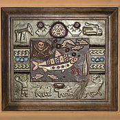 """Картины и панно ручной работы. Ярмарка Мастеров - ручная работа Картина из кожи """"Северный пират"""". Handmade."""