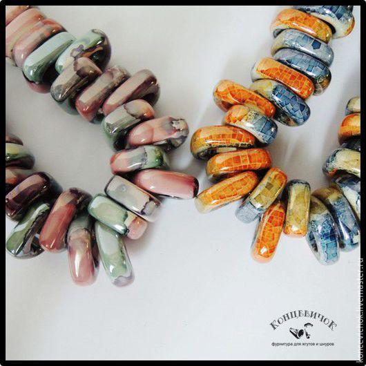 Для украшений ручной работы. Ярмарка Мастеров - ручная работа. Купить Керамика регализ узкая Греция. Handmade. Комбинированный, регализ