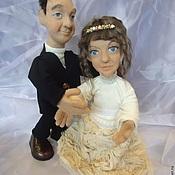 Подарки к праздникам ручной работы. Ярмарка Мастеров - ручная работа Портретные куклы на заказ по фото- свадебная парочка. Handmade.
