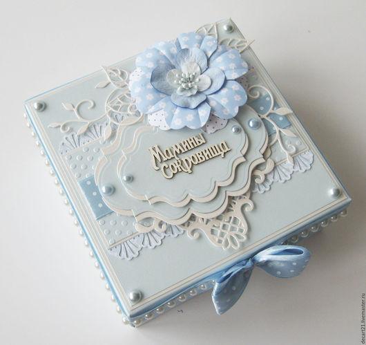 """Подарки для новорожденных, ручной работы. Ярмарка Мастеров - ручная работа. Купить """"Мамины сокровища"""" для мальчика (на 3 коробочки) #223. Handmade."""