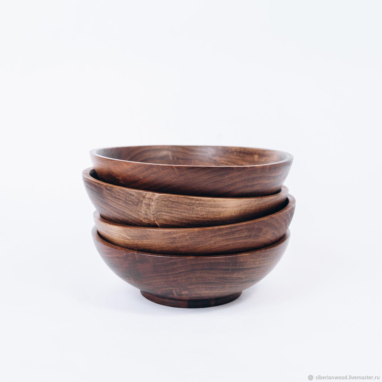 Set of wooden plates made of Siberian Cedar 170 mm TN49, Dinnerware Sets, Novokuznetsk,  Фото №1