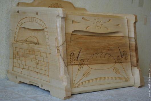 Кухня ручной работы. Ярмарка Мастеров - ручная работа. Купить Хлебница из дерева(липа) Колосок. Handmade. Хлебница из дерева, печка