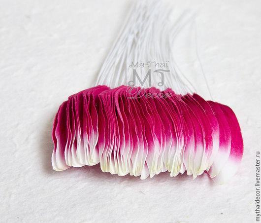 Лепестки бело-розовые мелкие My Thai Материалы для флористики из Таиланда