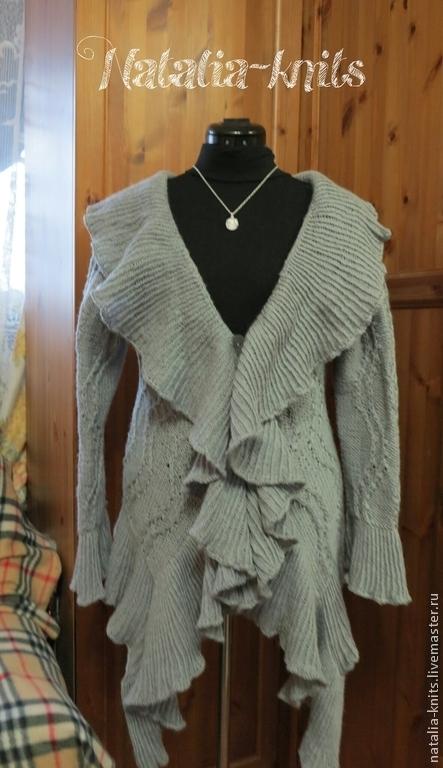"""Кофты и свитера ручной работы. Ярмарка Мастеров - ручная работа. Купить Кардиган """"Серебро"""". Handmade. Серый, кардиган женский"""