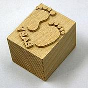 Материалы для творчества ручной работы. Ярмарка Мастеров - ручная работа Штамп деревянный для мыла. Handmade.