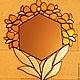 """Зеркала ручной работы. Ярмарка Мастеров - ручная работа. Купить Зеркало """"Золотая орхидея"""" тиффани. Handmade. Витраж, зеркало, тиффани"""