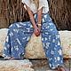 Брюки, шорты ручной работы. Длинная летняя юбка-брюки. image4you (Лариса). Интернет-магазин Ярмарка Мастеров. отпуск, хиппи