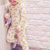 Работы для детей, ручной работы. Ярмарка Мастеров - ручная работа Банановая пижама. Handmade.