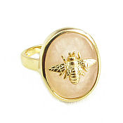 Украшения handmade. Livemaster - original item Rose quartz ring
