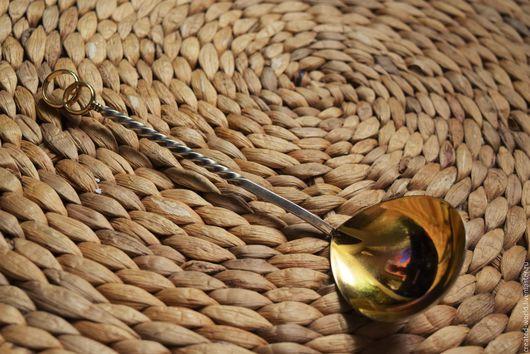 Винтажная посуда. Ярмарка Мастеров - ручная работа. Купить Серебряные салатные ложки с позолотой.. Handmade. Серебряный, ложка