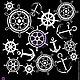 Открытки и скрапбукинг ручной работы. Маска для штампинга Якорь  2 572211. Хобби Лаб (hobbylab2). Интернет-магазин Ярмарка Мастеров.