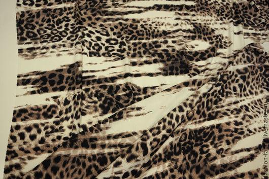 Шитье ручной работы. Ярмарка Мастеров - ручная работа. Купить Трикотаж вискозный леопард 11104725 Италия Цена за метр. Handmade.