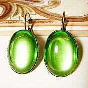 Украшения handmade. Livemaster - original item Earrings made of Czech glass - light green. Handmade.