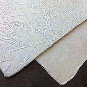 Открытки ручной работы. Ярмарка Мастеров - ручная работа Открытка из бумаги ручного литья. Handmade.