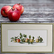 Картины и панно handmade. Livemaster - original item Panels: Apples are red. Handmade.
