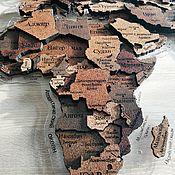 Картины и панно handmade. Livemaster - original item 3d MULTI-LEVEL MAP OF THE WORLD FROM THE