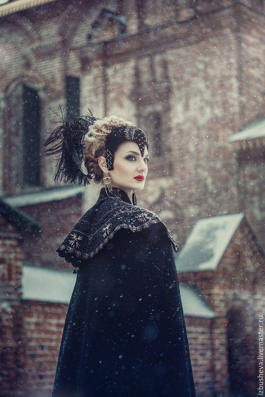 Шляпы ручной работы. Ярмарка Мастеров - ручная работа. Купить Головной убор черной королевы. Handmade. Черный, черная королева