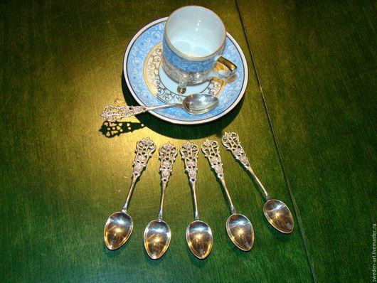 Винтажная посуда. Ярмарка Мастеров - ручная работа. Купить Серебряные ложки(6 шт) - кофейные 45грGewe-Швеция. Handmade. Винтаж