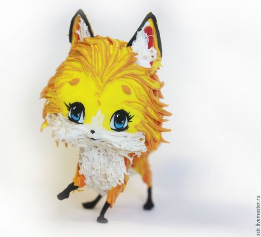 """Аниме ручной работы. Ярмарка Мастеров - ручная работа. Купить фигурка """"Лисичка в стиле аниме"""" :) (лиса, игрушка, статуэтка лисы). Handmade."""