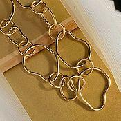 Украшения handmade. Livemaster - original item Gold-colored abstract pendant. Handmade.