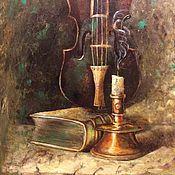 Картины и панно ручной работы. Ярмарка Мастеров - ручная работа Натюрморт со свечей. Handmade.