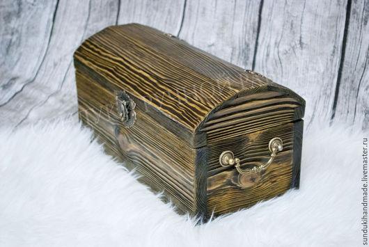 """Шкатулки ручной работы. Ярмарка Мастеров - ручная работа. Купить Сундук """"Чародей"""". Handmade. Хаки, сундук деревянный, сундук для архива"""