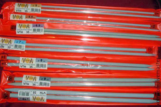 Вязание ручной работы. Ярмарка Мастеров - ручная работа. Купить Спицы прямые металлические 3.5-9 мм. Handmade.