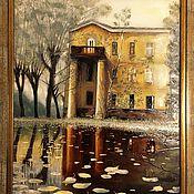 """Картины и панно ручной работы. Ярмарка Мастеров - ручная работа """"Дом в старом парке"""". Handmade."""