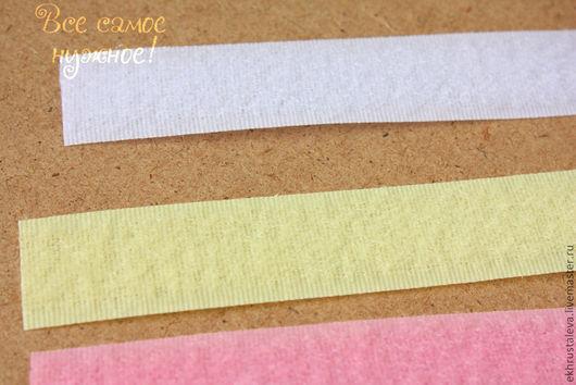 """Шитье ручной работы. Ярмарка Мастеров - ручная работа. Купить Лента """"липучка"""", 20 мм, 6 цветов. Handmade. Белый"""