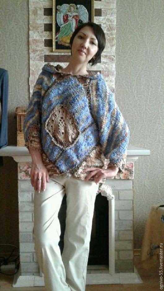 """Кофты и свитера ручной работы. Ярмарка Мастеров - ручная работа. Купить Авторский пуловер """"Крем брюле и голубой лёд"""". Handmade."""