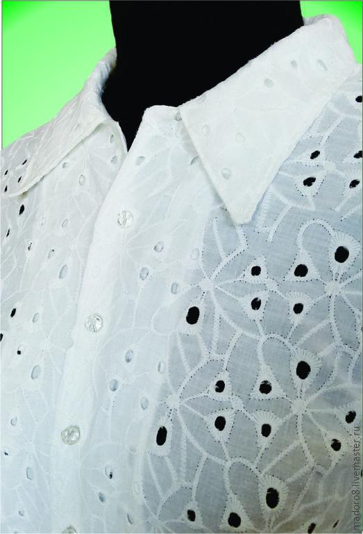 Блузки ручной работы. Ярмарка Мастеров - ручная работа. Купить Офисная блузка. Handmade. Белый, офисный стиль, офисная мода