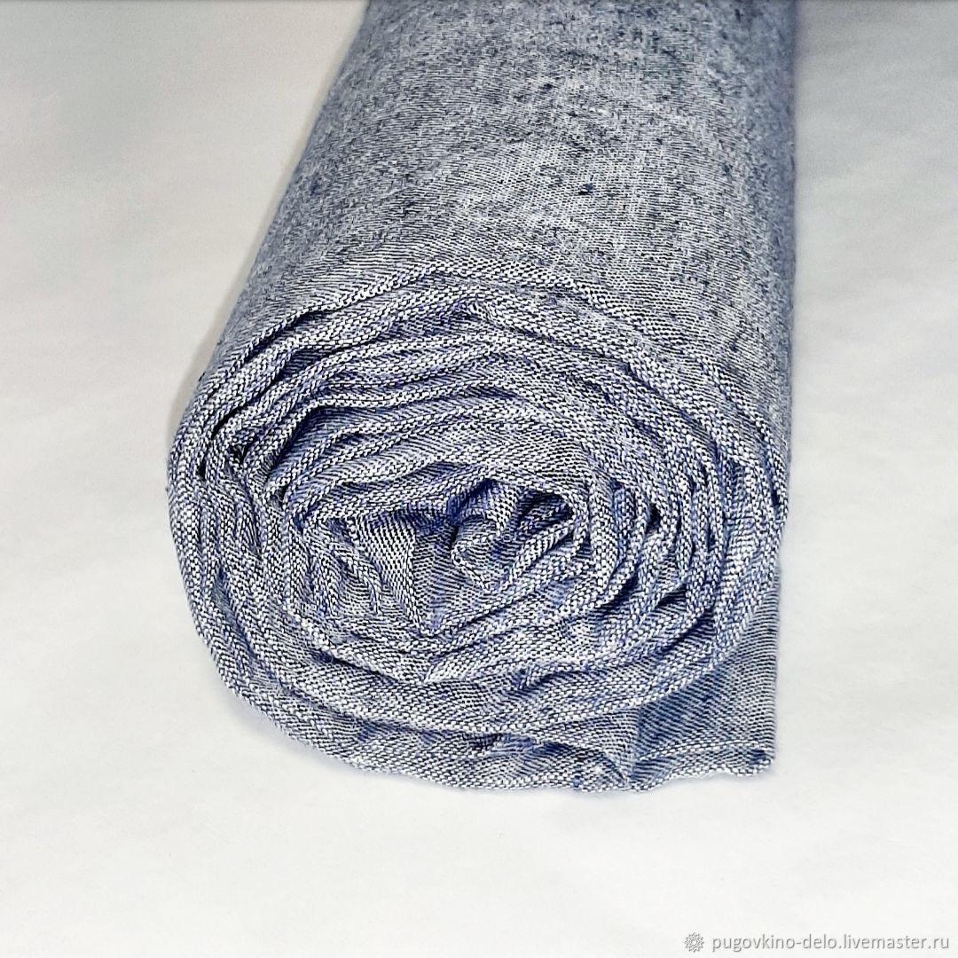 Шитье ручной работы. Ярмарка Мастеров - ручная работа. Купить Лён 100% белорусский костюмный серо-голубой меланж. Handmade.