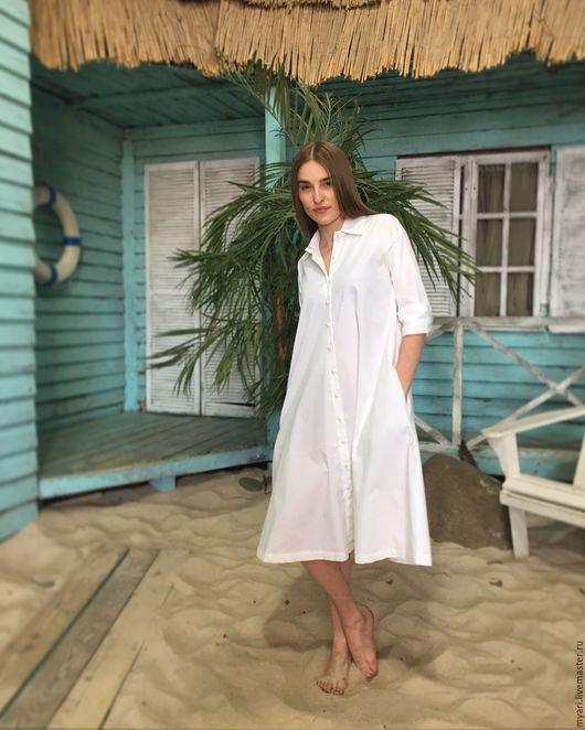 Платья ручной работы. Ярмарка Мастеров - ручная работа. Купить Платье-рубашка. Handmade. Разноцветный, красивое платье