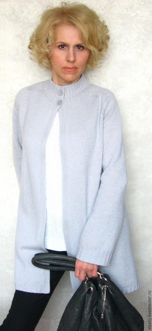 Кофты и свитера ручной работы. Ярмарка Мастеров - ручная работа. Купить Кардиган из итальянского мериноса с кашемиром и шелком. Handmade. Однотонный