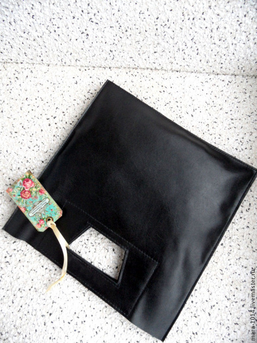 Женские сумки ручной работы. Ярмарка Мастеров - ручная работа. Купить MINI - пакет Кожаная авторская сумочка. Handmade. Черный